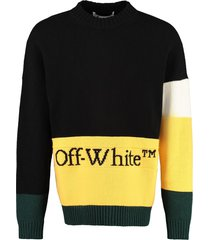 off-white color-block wool sweater