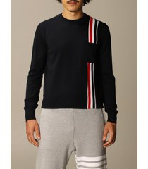 thom browne sweater thom browne pullover in merino wool with striped band