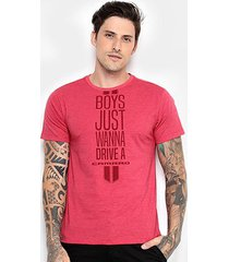 camiseta camaro boys just wanna drive masculina