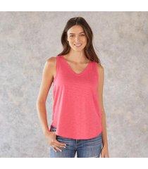 sundance catalog women's babydoll sleeveless t-shirt in lifeguard xs