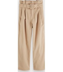 scotch & soda belted paperbag trousers