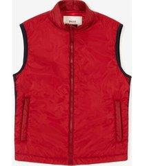 sleeveless down jacket red 48