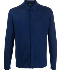 roberto collina knit shirt cardigan - blue