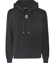 dolce & gabbana logo print hoodie
