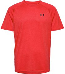 ua tech 2.0 ss tee t-shirts short-sleeved röd under armour