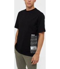 j lindeberg michael-distinct cotton t-shirts & linnen black