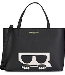 boxy faux leather tote