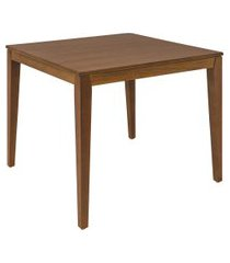 mesa de madeira quadrada tramontina 14067180 piazza london/amêndoa