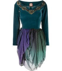 a.n.g.e.l.o. vintage cult 1990s bead-embellished velvet-effect dress -