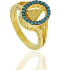 anel dona diva semi joias n. senhora dourado