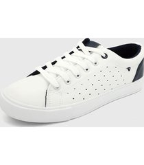 tenis blanco-azul navy hang ten