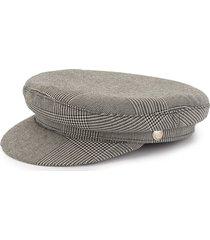 manokhi greek fisherman checked hat - grey