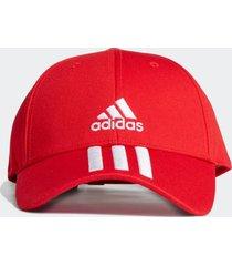 boné adidas boné baseball sarja 3-stripes (unissex) vermelho