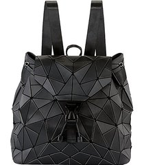triangle geometric faux leather backpack