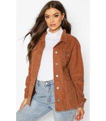 cord oversized trucker jacket, tan
