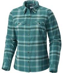 blusa m/l silver ridge flannel verde columbia