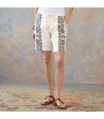 sundance catalog women's geoffrey linen shorts in natural large
