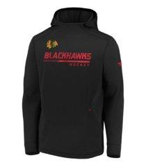 majestic chicago blackhawks men's locker room rink hoodie