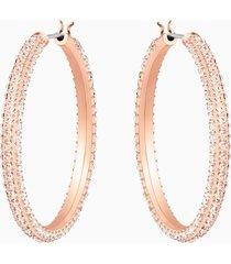 orecchini a cerchio stone, rosa, placcato oro rosa