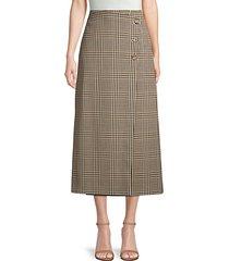 leyla heritage plaid wrap skirt