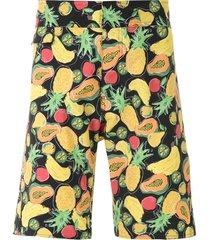 amir slama fruit print swim shorts - black