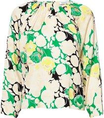 rodebjer solomiya blouse lange mouwen groen rodebjer