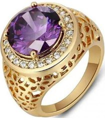 anillo gran morado arany joyas