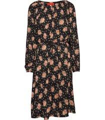 penny blossomy jurk knielengte zwart whyred