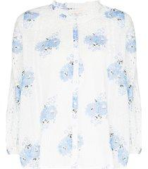 loveshackfancy spectra floral-print blouse - white