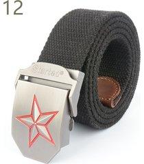 cinturón de hombres, cinturón de cinturón tejido-negro