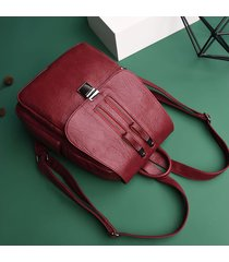 mochilas/ doble cremallera mujeres mochila bolsas de-rojo