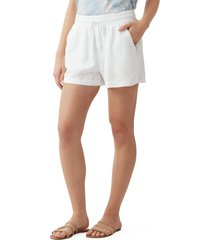 women's splendid campside shorts, size small - white