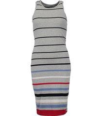 jurk stripe grijs