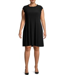 tiana b women's sleeveless ruffled dress - black - size 2x (18-20)