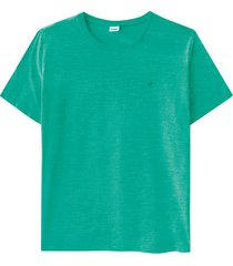 camiseta tradicional malha fio a fio wee! verde claro - p