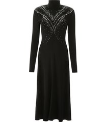 paco rabanne long dress with rhinestones