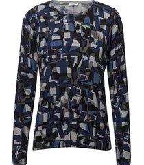 pullover long-sleeve stickad tröja blå gerry weber edition