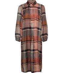 nice midi dress knälång klänning brun second female