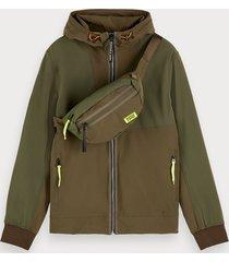 scotch & soda hooded nylon jacket