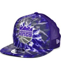 new era sacramento kings tie dye mesh back cap