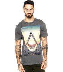 camiseta manga curta volcom splicer cinza - cinza - masculino - dafiti