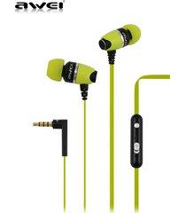 audífonos bluetooth manos llibres, 88hi auriculares de alta calidad de la en-oído auriculares estéreos de los deportes para el funcionamiento del walkman (amarillo)