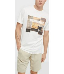 only & sons onsindio reg ss tee t-shirts & linnen vit