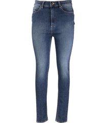 hoge taille skinny broek