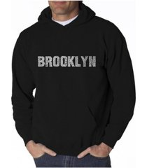 la pop art men's word art hoodie - brooklyn neighborhoods