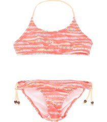 sunuva braided bracelet bikini set - orange