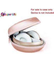 beats solo 2 3 headphone case hard eva protective travel carrying bag rose gold