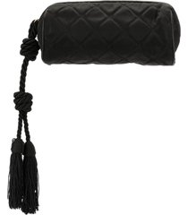 chanel pre-owned 1985-1993 quilted pouch - black
