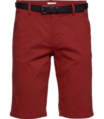 classic chino shorts w. belt shorts chinos shorts röd lindbergh