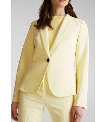 blazer corte entallado amarillo esprit